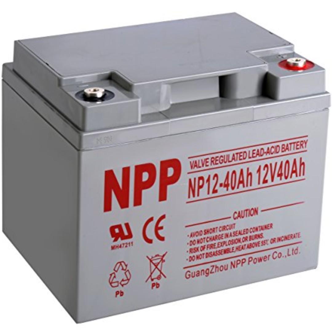 NPP Deep Cycle Solar eBike UPS Batteries VRLA on Carousell