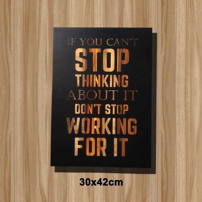 poster quotes working for it bisa custom gambar home furniture