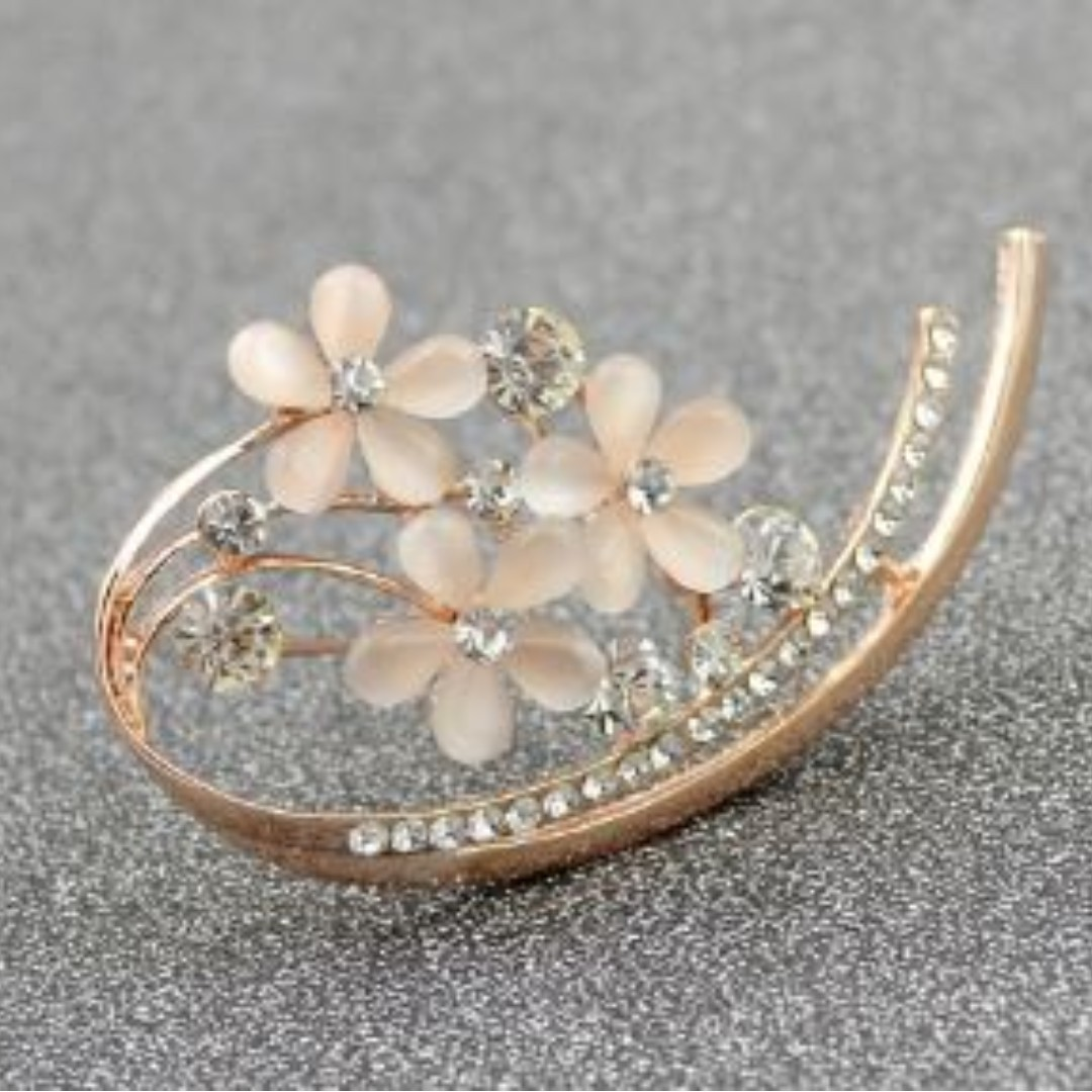 cb6c7b29a Preorder Sale For Korean Style Opal Flower Brooches, Women's Fashion,  Jewellery, Brooches on Carousell