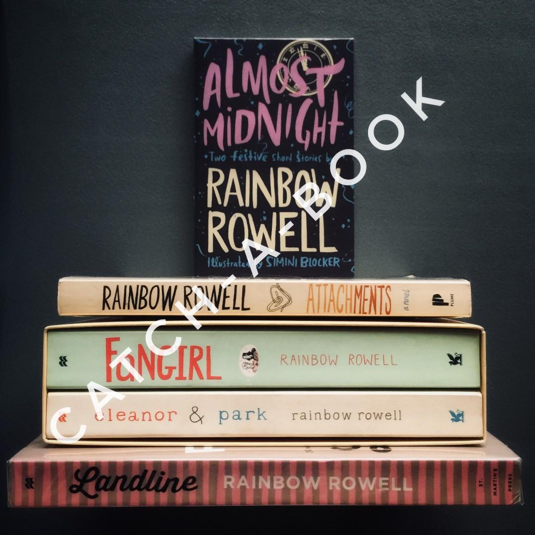 RAINBOW ROWELL BUNDLE: FANGIRL, ELEANOR&PARK, ATTACHMENTS, LANDLINE, ALMOST MIDNIGHT