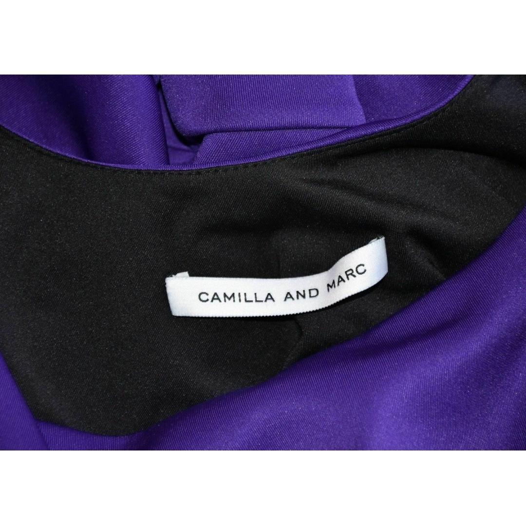 Size 6 Camilla And Marc Pendentive Dress Purple Skater Short Women's Bubble NEW