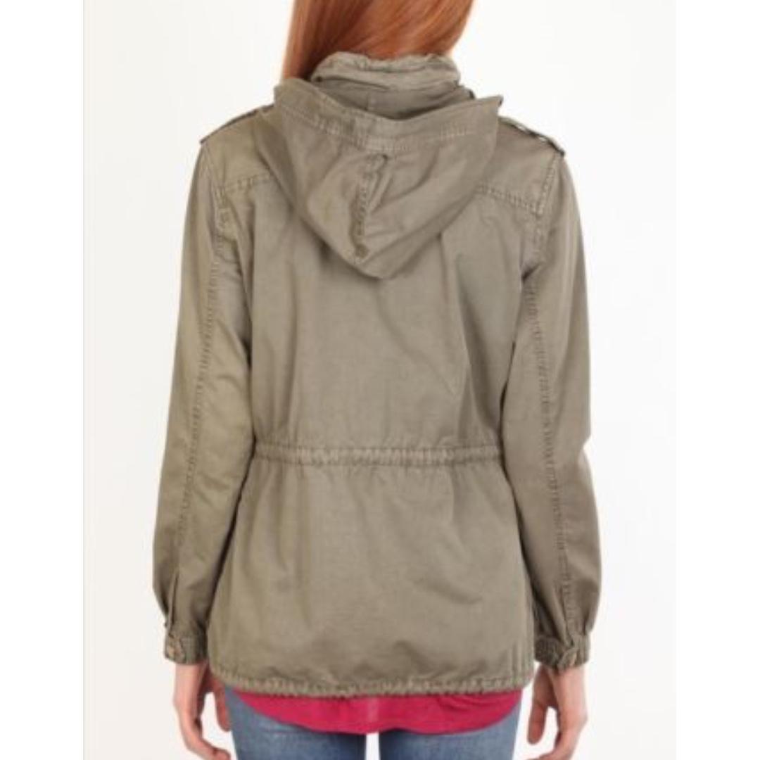 Size Medium 10 Factorie Soho Anorak Khaki Coat Jacket Winter Womens Hood Zip Up