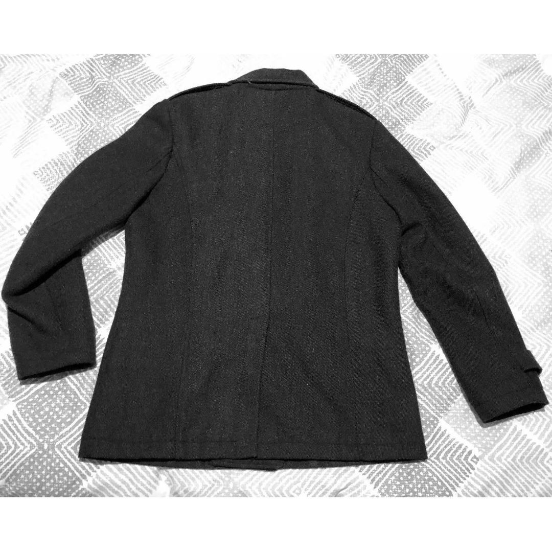 Size Medium Black Classic Coat Jacket Mens Double Breast