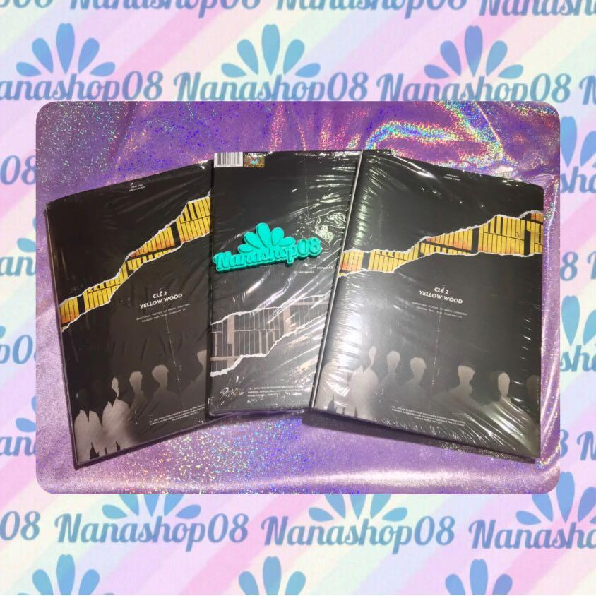 UNSEALED Stray Kids Cle2 Yellow Wood Limited Edition Album ONLY + Sticker