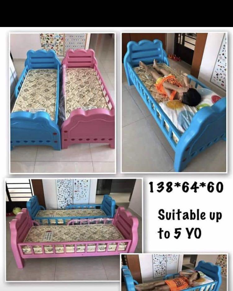 Children Bed Only Blue Color With Seahorse Mattress Included Babies Kids Cots Cribs On Carousell