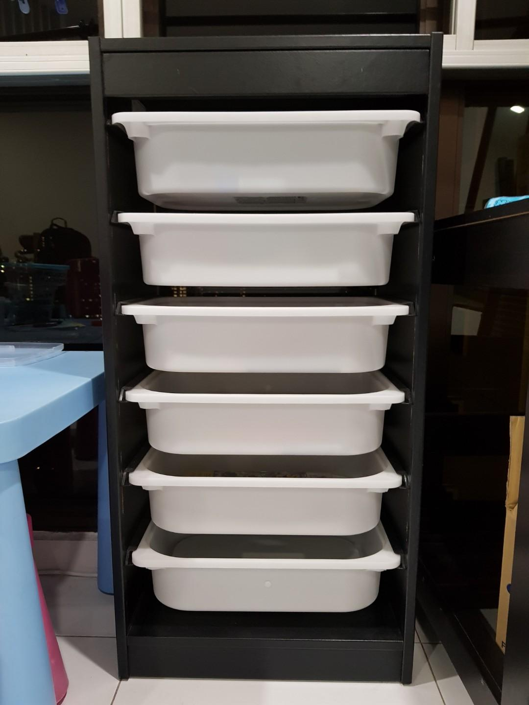 Trofast Ikea With Boxes Furniture Shelves Drawers On