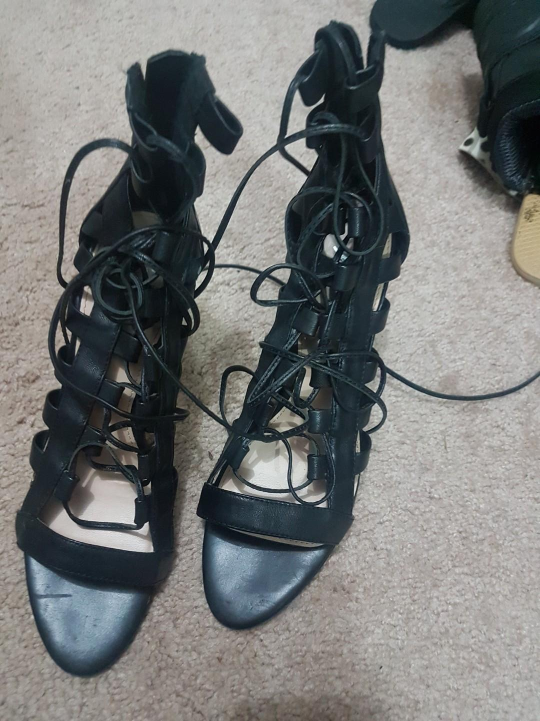 Wanted shoes copy of the Aquazzura Elaphe lace up high heels
