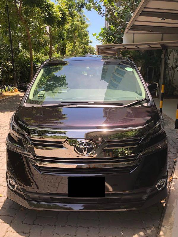 Wedding Car with Driver (Vellfire / Alphard) high spec