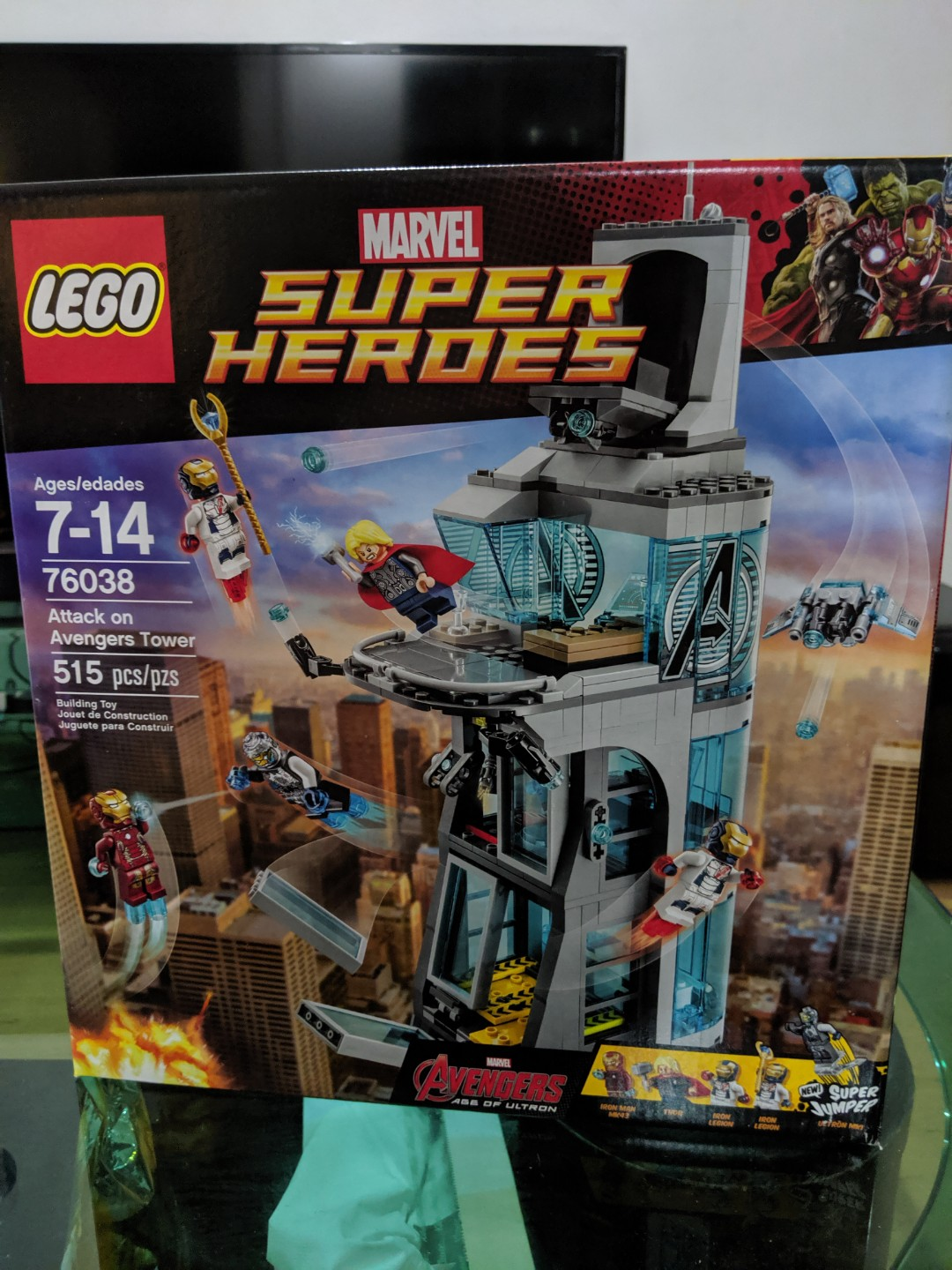 Superhero On Airport Avengers Tower Attack Wtt76038 76051 With Battle fb7yIYgvm6