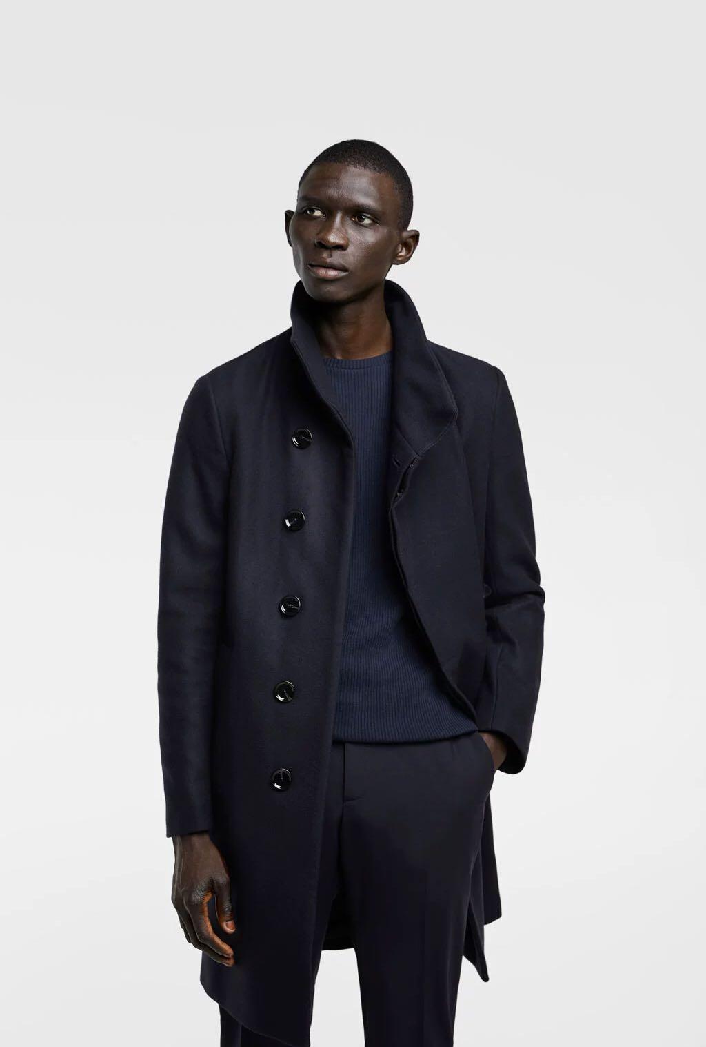 9d92a7bbf Zara Men's Wool Winter Jacket