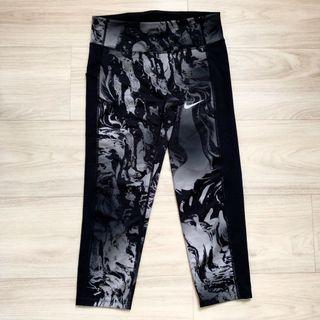Nike Women's Power Printed Crop Running Leggings with pockets