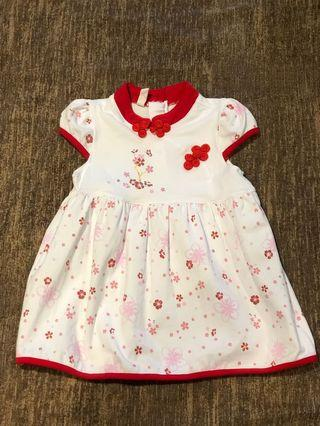 CNY Baby Girl Dress 6-12 M