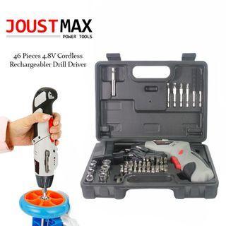 Joustmax 4.8V 45pcs Rechargeable Cordless Screwdriver