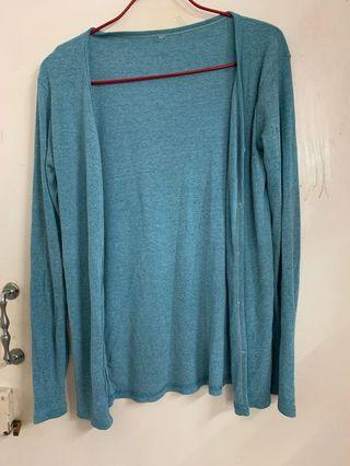Cardigan 冷衫 水藍色 turquoise