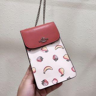 Coach Fruit Print Phone Pouch