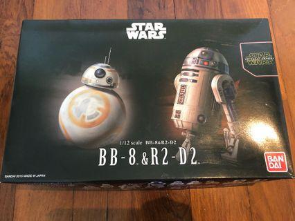 🚚 StarWars BB-8 & R2-D2 figurines 1/12 scale