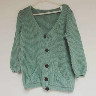 🚚 質感木釦針織衫外套