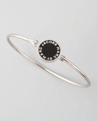 💚現貨💚Marc by Marc Jacobs Skinny Bracelet black with silver tone  黑銀 手環