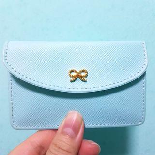Mint Blue Card Holder