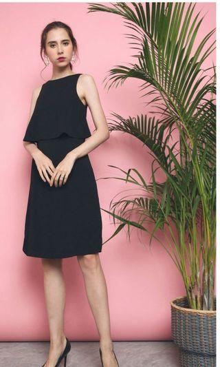🚚 Hollyhoque Dylan Shift Midi Dress Black