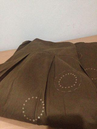 Brown Office Skirt Mall Quality
