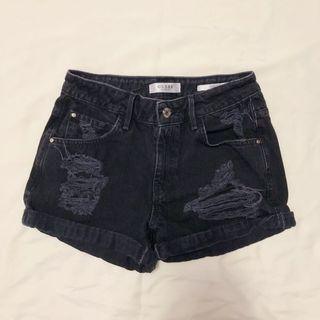 Mid-Rise Guess Distressed Boy Shorts