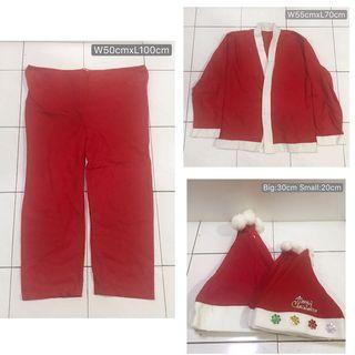 Christmas hatx10 & Santa costume