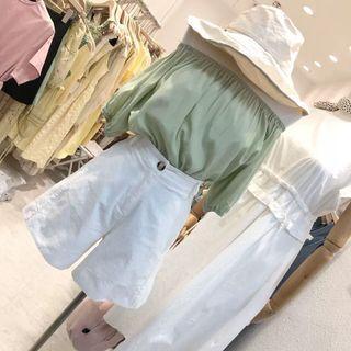 ✨全新轉賣✨露肩一字領上衣(白色)