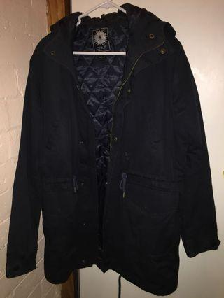 Dark navy winter parker jacket