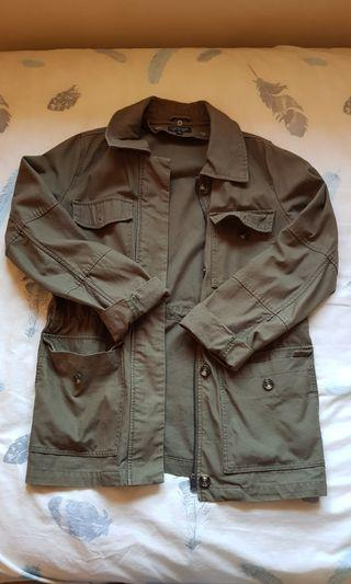 Topshop army green jacket fits size 6-8. Perfect condition. Original price $200
