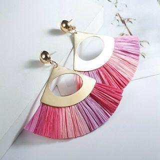 Pleated Tassel Earrings