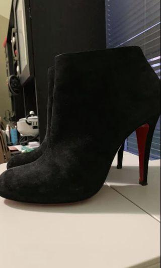 Christian Louboutin Suede Booties (Belle 85mm)