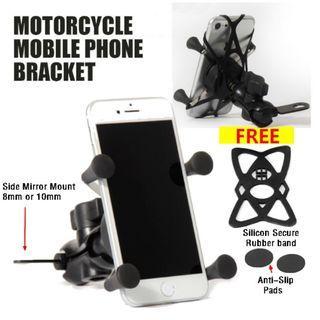 Motorcycle Phone Holder / Motorbike Handphone holder / X Grips mount
