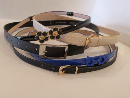 6 belts including H&M, Sprit & Nautica