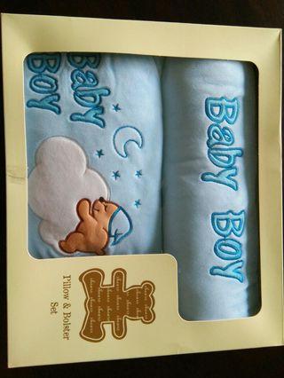 NEW Shears Baby Boy Pillow & Bolster set