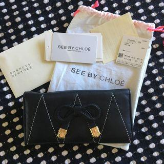 See By Chloé black Ribbon Wallet