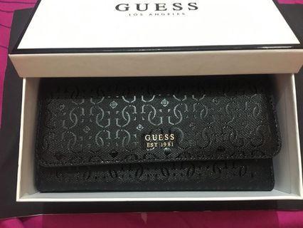 Guess original long wallet black