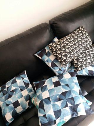 🚚 Cushions all together