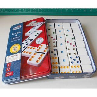 Pavilion Double 6 Dominos (齊一盒28塊), 白底彩點 Family game Jigsaw & puzzles