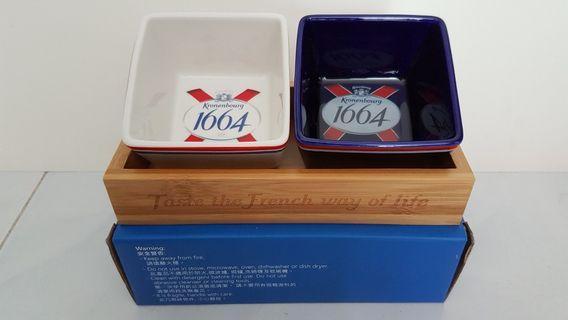 1664 小食碗連木盤