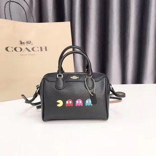 Coach Micro Bennett Satchel with pac man animation