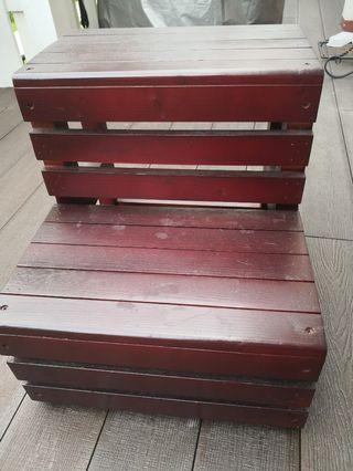 Wood chair ladder