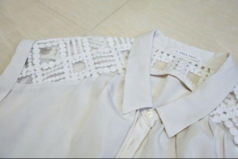 米白色連身褲