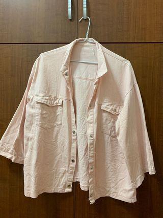 🚚 粉紅色牛仔外套