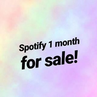 Spotify 1 month for sale
