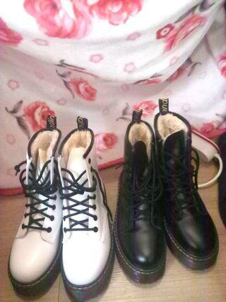 white boots (black one is sold)