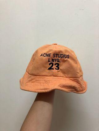 小學生亮橘漁夫帽