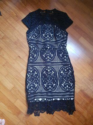 🚚 Black Lace Dress