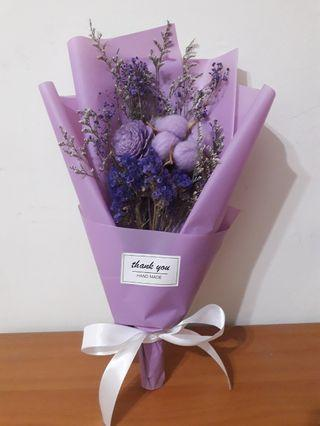 ✧本週新品✧ 乾燥花 紫棉花索拉花束