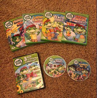 Leap Frog DVD x 6